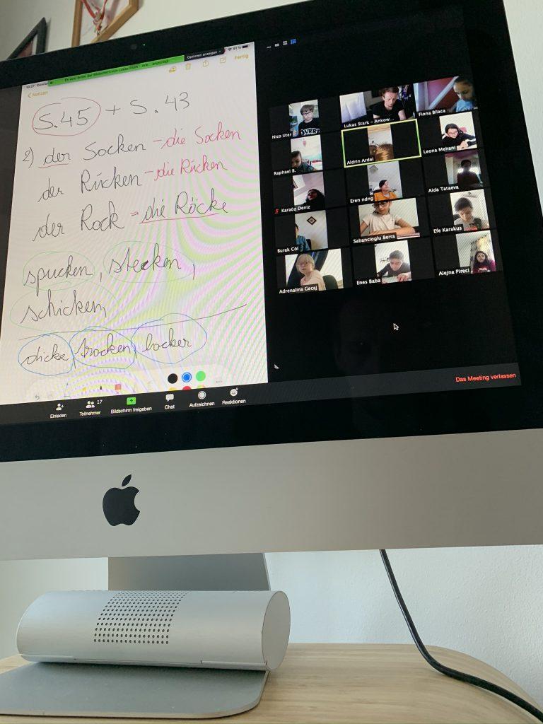 Unterricht Videokonferenz mit geteilter Tafel!